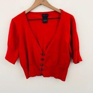 Torrid Red Crop Cardigan 3X